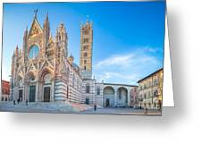 Colourful Siena Cathedral Greeting Card