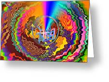 Colourful Swirl Of Goodluck Greeting Card