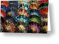 Colourful Umbrellas Bangkok Thailand Greeting Card