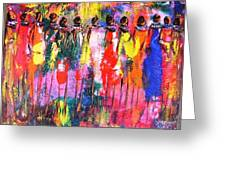 Colourful Women Greeting Card by Joseph Muchina