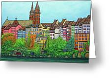 Colours Of Basel Greeting Card