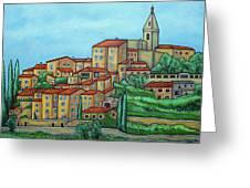 Colours Of Crillon-le-brave, Provence Greeting Card