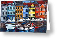 Colours Of Nyhavn Greeting Card by Lisa  Lorenz