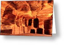 Colours Of Petra Greeting Card by Paul Cowan