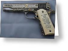 Colt 1911 Greeting Card