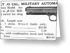 Colt .45 Automatic Pistol Greeting Card