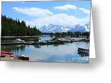 Colter Bay On Jackson Lake  Greeting Card