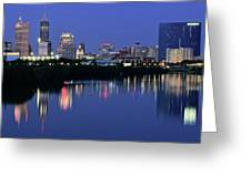 Colts Blue Hour Night Greeting Card