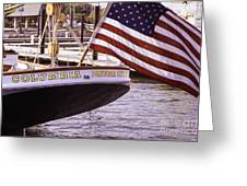 Columbia From The Stern Greeting Card