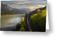 Columbia Gorge Train Greeting Card