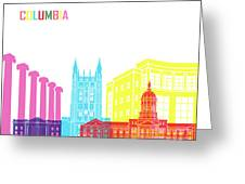 Columbia Mo Skyline Pop Greeting Card