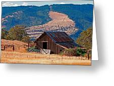 Columbia River Barn Greeting Card