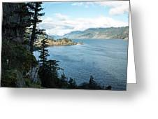 Columbia River Cliffside Greeting Card