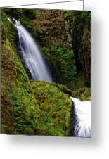 Columbia River Gorge Falls 1 Greeting Card