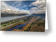 Columbia River Gorge In Autumn Greeting Card