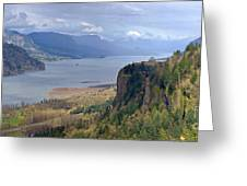 Columbia River Gorge Oregon State Panorama. Greeting Card