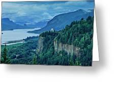 Columbia River Gorge Panoramic Greeting Card