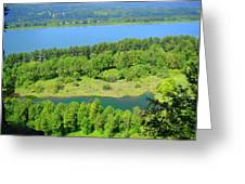 Columbia River Gorge View Greeting Card