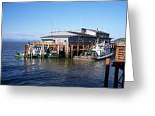 Columbia River Port Greeting Card