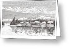 Columbia River Raft Up Greeting Card
