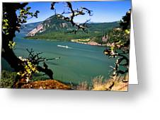 Columbia River Traffic Greeting Card