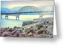 Columbia River Vantage Bridge Greeting Card