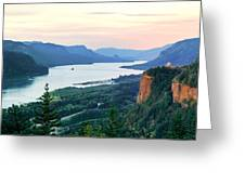 Columbia River With Vista House Greeting Card
