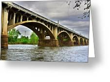 Columbia S C Gervais Street Bridge Greeting Card