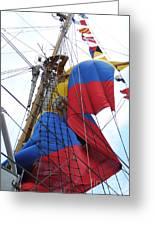 Columbian Mast Greeting Card