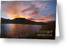 Columbine Lake Sunset - Weminuche Wilderness - Colorado Greeting Card