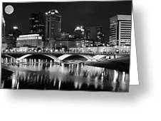 Columbus Black Night Greeting Card