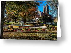 Columbus Day In The Park Greeting Card