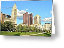 Columbus From The Park Greeting Card