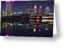 Columbus Ohio Reflecting Nicely Greeting Card