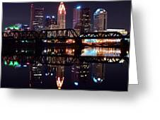 Columbus Ohio Reflecting On The River Greeting Card