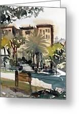 Columbus Park Bayshore Tampa Greeting Card