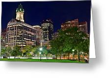 Columbus Park Boston View Greeting Card