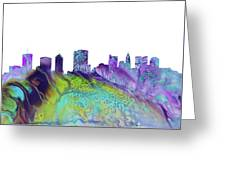 Columbus Skyline 3 Greeting Card