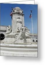 Columbus Statue Greeting Card