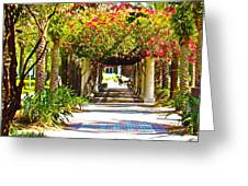 Column Flowers Greeting Card