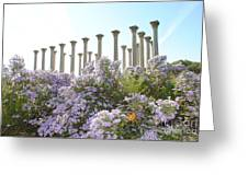 Column Flowers To The Sky Greeting Card