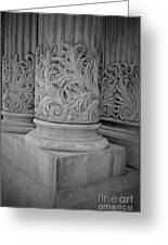 Column Of Mount Vernon Place Greeting Card