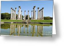 Column Reflection Greeting Card