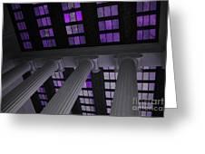 Column Stain Purple Greeting Card