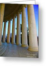Columns At Jefferson Greeting Card by Megan Cohen