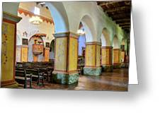 Columns At San Juan Bautista Mission Greeting Card