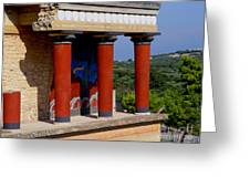 Columns Of Knossos Greece Greeting Card