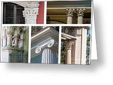 Columns Of New Orleans Collage Greeting Card