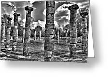 Columns Of Support Greeting Card