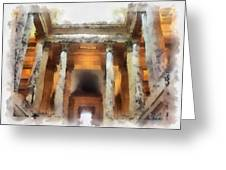 Columns Greeting Card